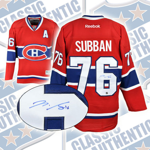 huge discount 70cd2 491be P.K. SUBBAN Montreal Canadiens Pro replica autographed RBK jersey (#2480)