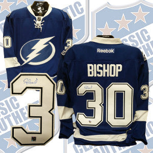 the latest c6e0f debbf BEN BISHOP Tampa Bay Lightning Pro replica autographed RBK jersey (#3774)