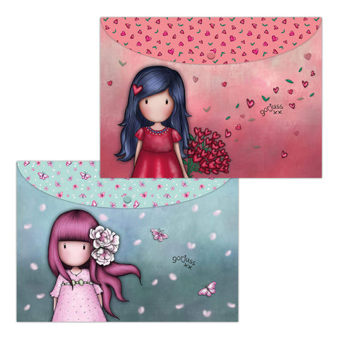 A4-es mappa két darabos – Gorjuss Sparkle and Bloom - Cherry Blossom – Love Grows