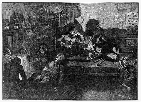 Opium Den London East End, 1874, Wellcome Gallery