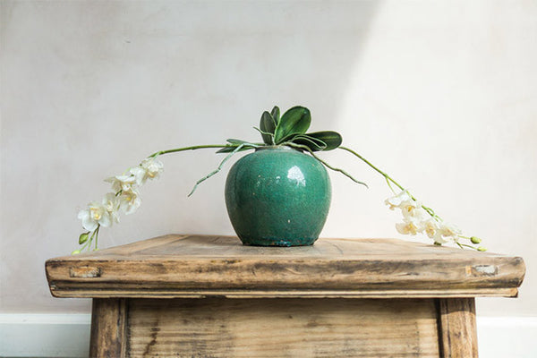 Turquoise ginger pot