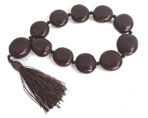 Flat seed pot bracelet - Buddhist mala - SERES Collection  - 1