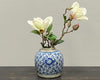 Antique blue white ginger jar