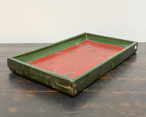 Weathered green/red tray