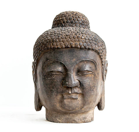 Hard stone Buddha head - SERES Collection  - 1