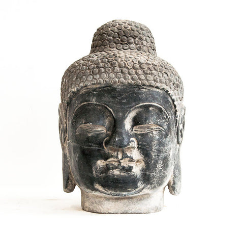 Polished hard stone Buddha head - SERES Collection  - 1