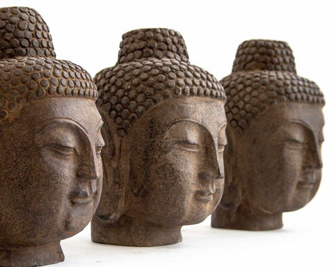 Medium stone Buddha head - SERES Collection  - 1