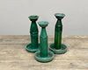 Antique candle holders - oil lamps