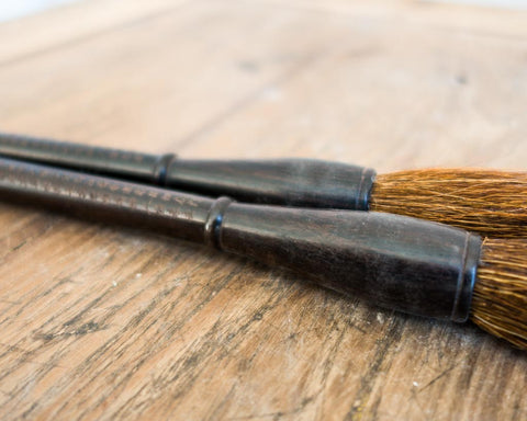 Thick calligraphy brush with Chinese characters - SERES Collection  - 1