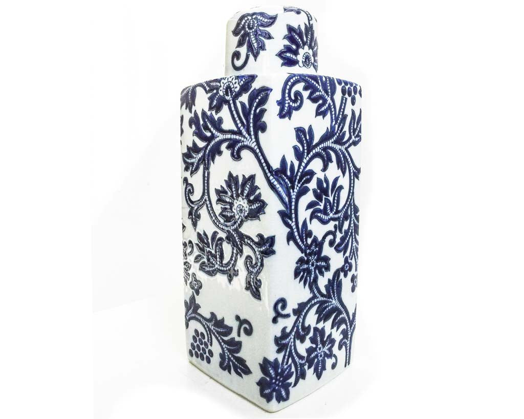 Blue white ceramic decorative pottery