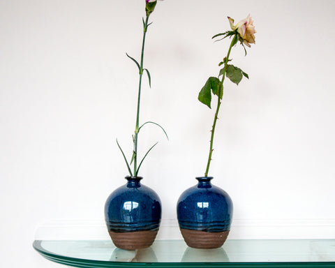 Denim-blue pot - SERES Collection  - 1