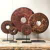 Bi-disc in Burgundy Red tones - Home decorations