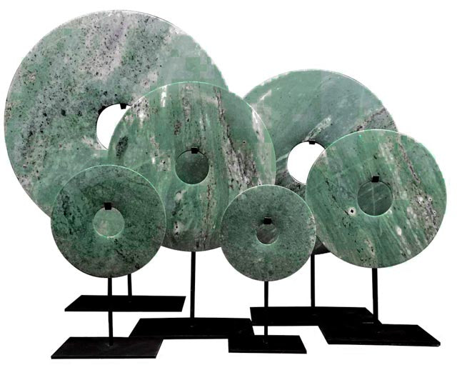 Bi-disc in Light Green tones - Modern home decoration