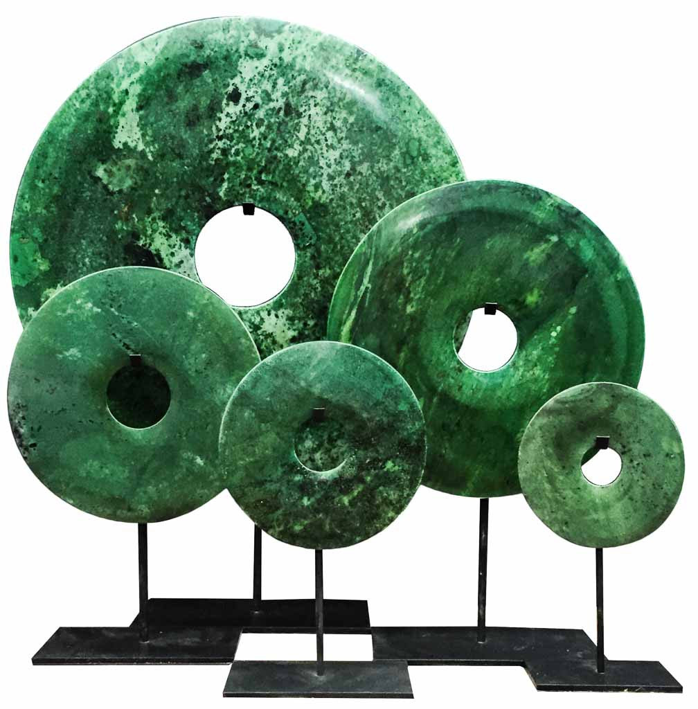 Bi-disc in Dark Green tones - Modern home interiors