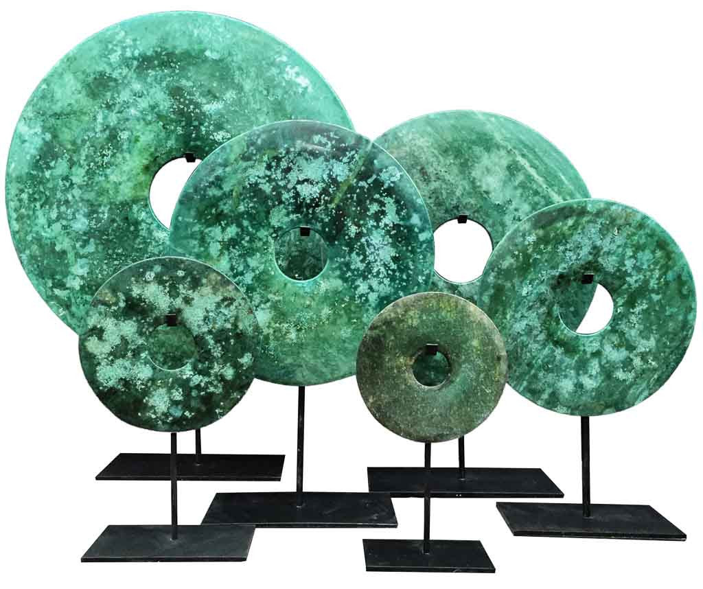 Bi-disc in Green Turquoise tones - Ethnic interiors