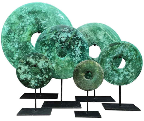 Bi-disc in Green Turquoise tones - SERES Collection
