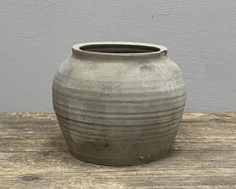 Weathered grey pot