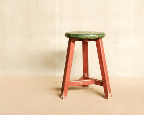 Round stools in various colours