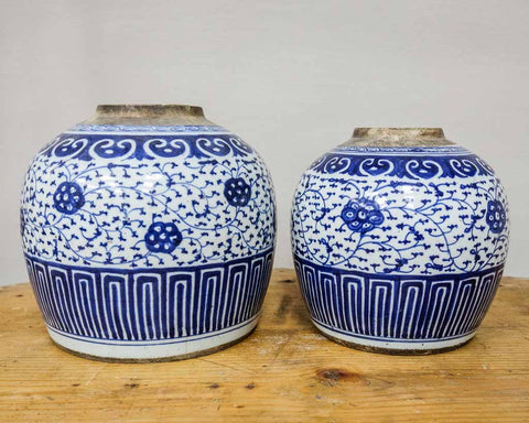 Antique Delfts blue ginger jar