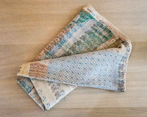 Kantha throw - old pastel - SERES Collection  - 1