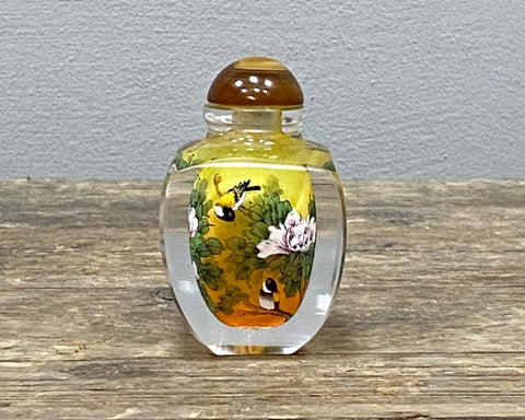 Inside painted glass snuff bottles