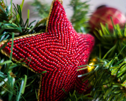 Beaded Christmas star - SERES Collection  - 1