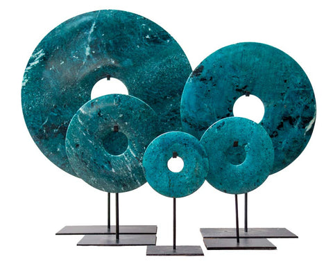 Bi-disc in Turquoise-Blue tones