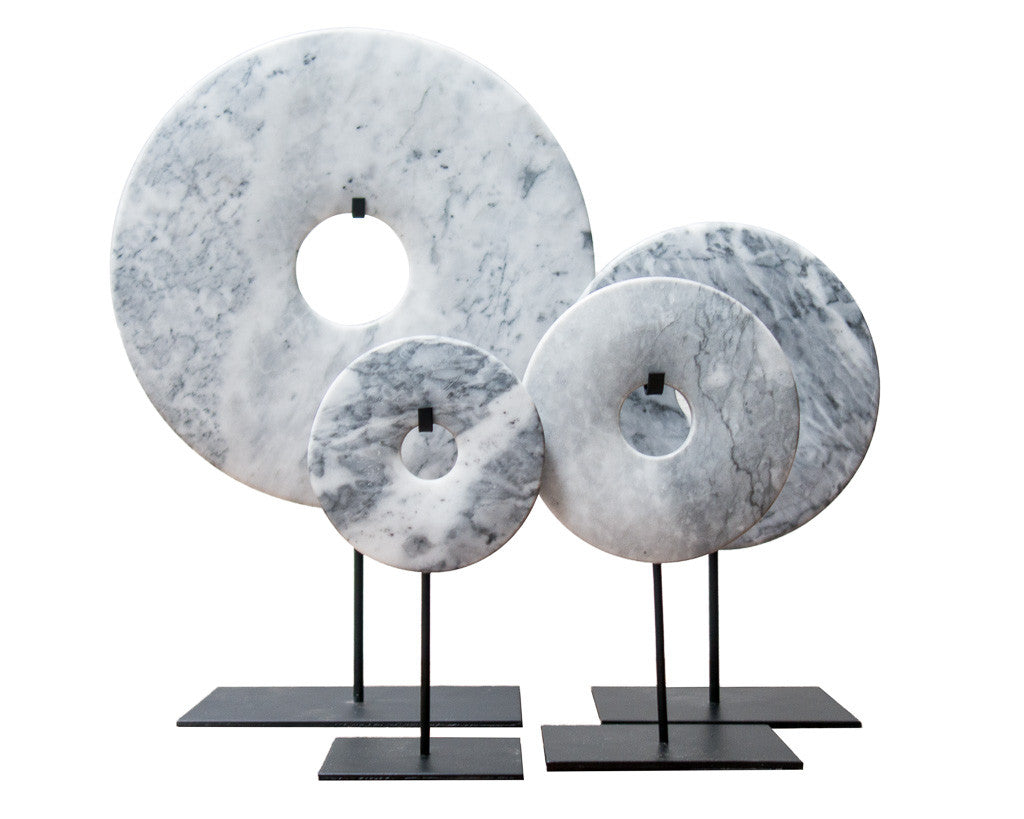 Bi-disc in marbled gray tones - Modern home interiors