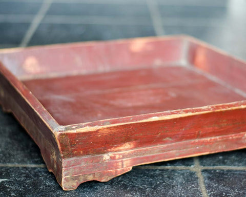 Two red square trays - SERES Collection  - 1