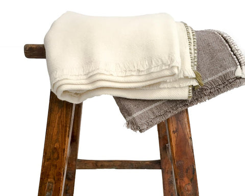 Supersoft Anu Twill blanket/throw with sheep, yak wool and cashmere - SERES Collection  - 1