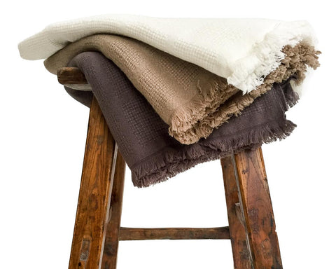 Supersoft 100% Cashmere Twin Hasa blanket/throw - SERES Collection  - 1