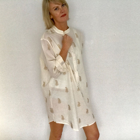 cream cotton nightshirt nightie
