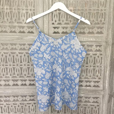 blue cotton cami