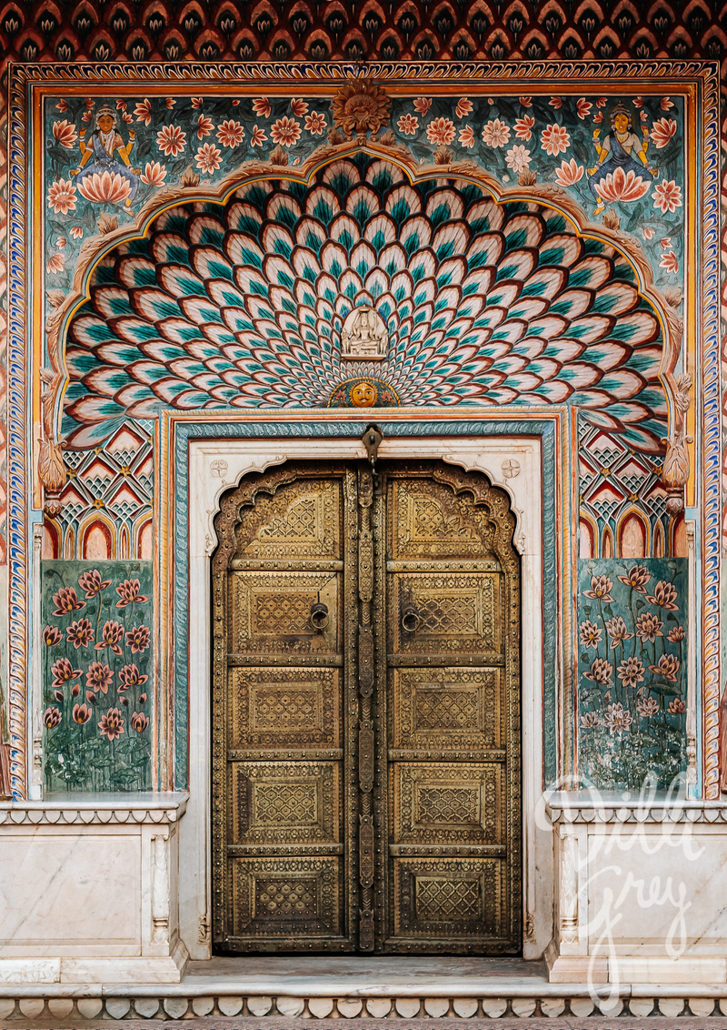 India Icons Series: Lotus Gate Print - Dilli Grey