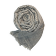 Soft Grey chevron patterned cashmere scarf - Dilli Grey