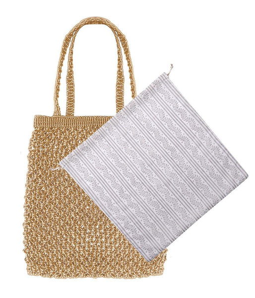 Dilli Grey x Bell & Fox chambal nude macrame shopper - Dilli Grey