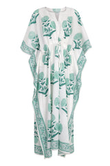 Suraj maxi kaftan in mint green - Dilli Grey