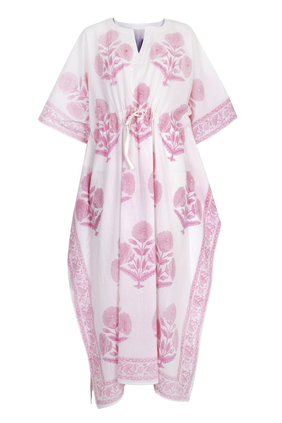 Suraj maxi kaftan in rose pink - Dilli Grey