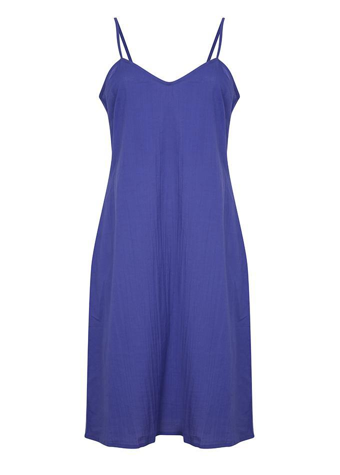 Bianca midi dress in celestial blue - Dilli Grey