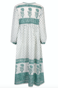 PRE-ORDER Jackie midi dress in sage green - Dilli Grey