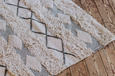 Hand-woven white and grey rug - Dilli Grey