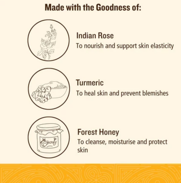 Indian Rose Facial Wash with Turmeric and Honey - Dilli Grey
