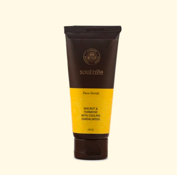 Face Scrub with Walnut, Turmeric and Sandalwood - Dilli Grey