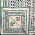 Phool hand-block printed quilt - Dilli Grey