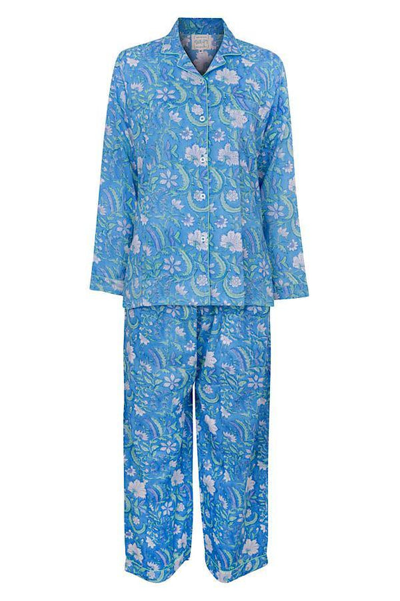 Blue Patrika long-sleeve PJ set - Dilli Grey