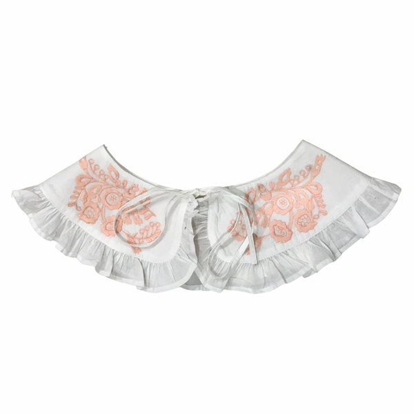 Milly embroidered collar in peach