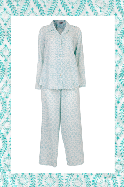 Malachite starburst print PJ set