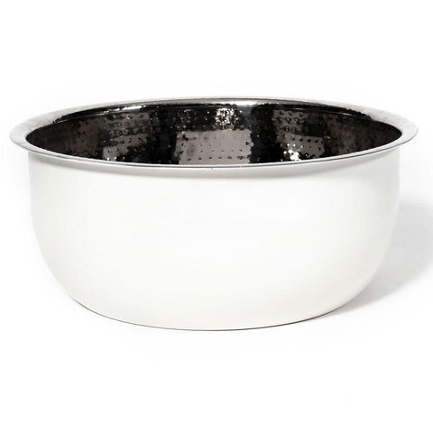 Pedicure Bowl - Hammered Stainless Steel