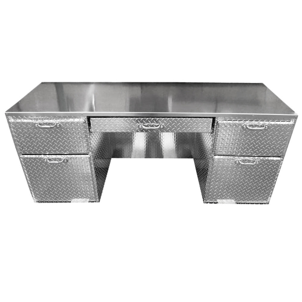 Merveilleux Office Desk   Diamond Plate Aluminum ...