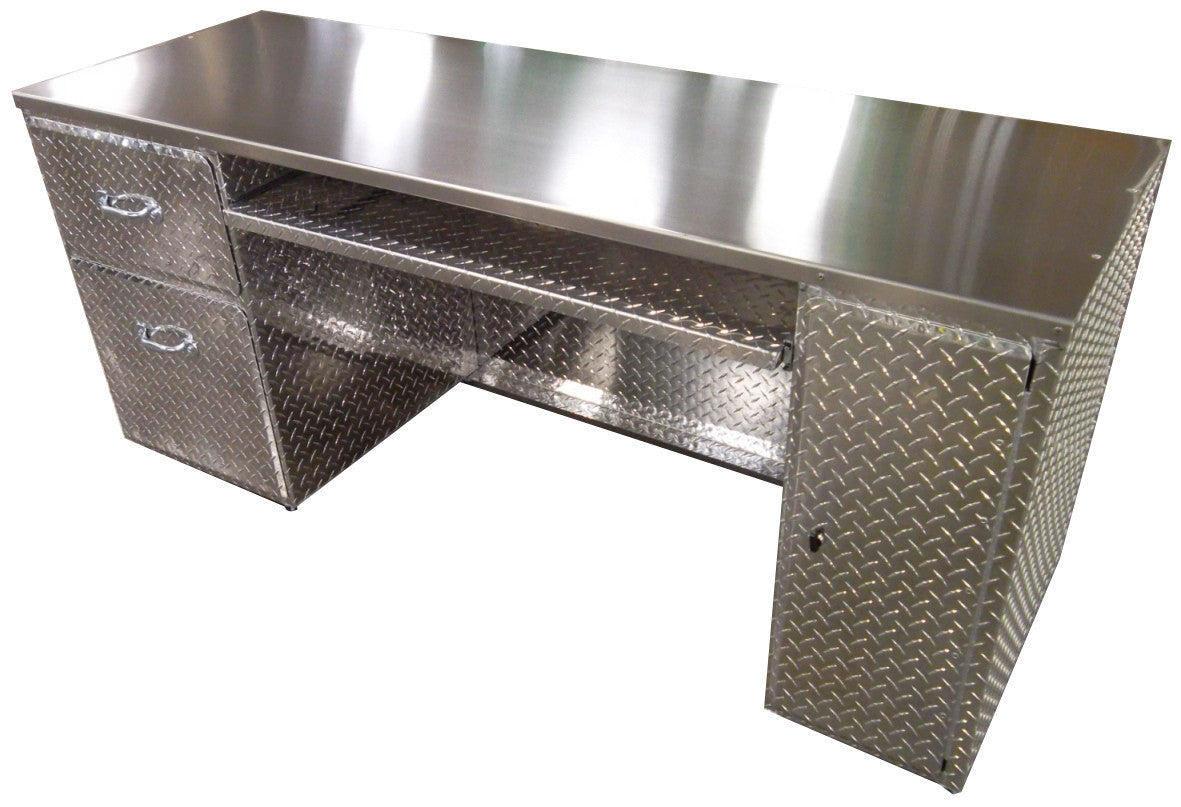 ... Office Desk   Diamond Plate Aluminum ...